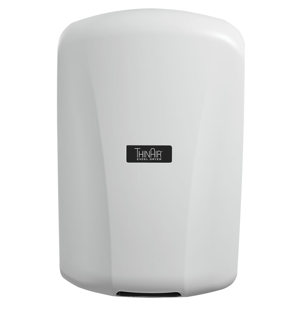 ThinAir Model TA-ABS White Polymer (ABS) Hand Dryer