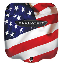 XLERATOR Hand Dryer with American Flag