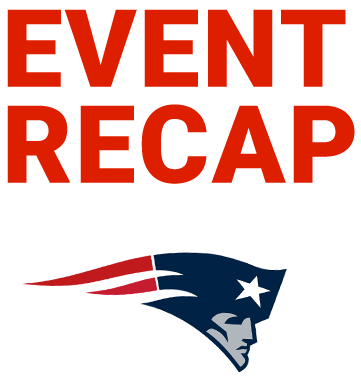 Event Recap Text and Patriots Logo