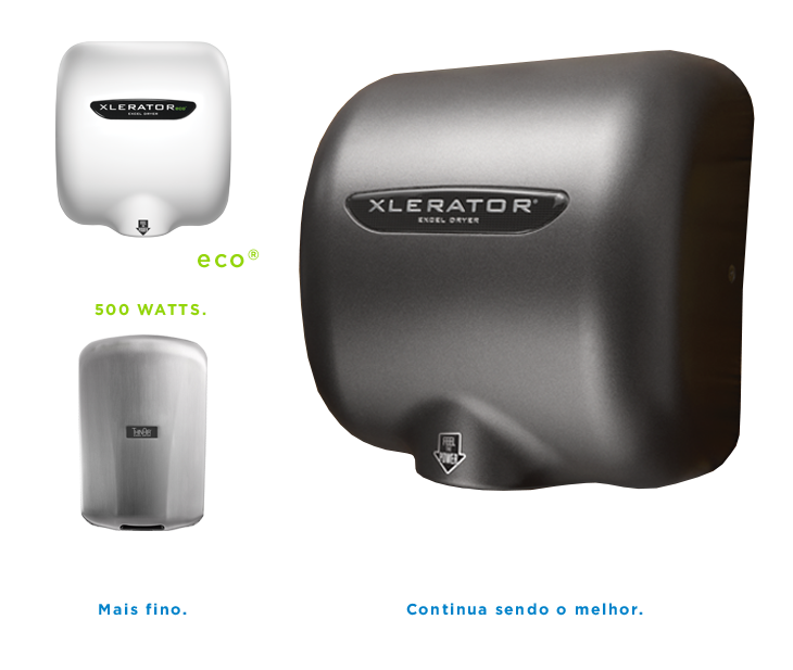 XLERATOReco, XLERATOR, and ThinAir Hand Dryers